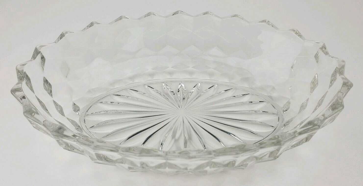 "Primary image for Vintage Fostoria Early American Clear Glass Oval Serving Vegetable Bowl 9"" Long"