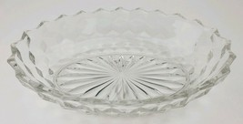 "Vintage Fostoria Early American Clear Glass Oval Serving Vegetable Bowl 9"" Long - $9.49"