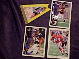 Shannon Sharpe WR # 84 and Ed McCaffrey  WR# 87 Football Trading Cards AA-19FTC3 image 5