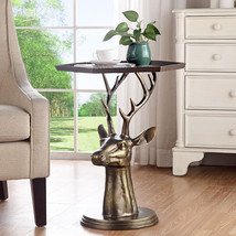 Deer Bust End Table by SPI Home 34670 - $529.00