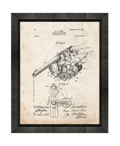 Revolving Firearm Patent Print Old Look with Beveled Wood Frame - $24.95+