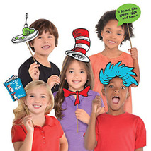 DR. SEUSS CAT IN THE HAT photo booth props 13pcs green eggs ham book PAR... - $11.87
