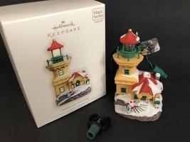 HALLMARK Keepsake Christmas Tree Ornament 2007 Lighthouse Greetings Magic Series - $16.82