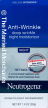 Neutrogena Anti Wrinkle Deep Wrinkle Night Moisturizer 1.4 oz each Free ... - $9.99