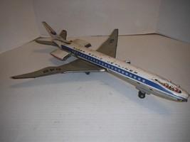 """Vintage 24"""" Super Sonic Jetliner SR 649 Tin Airplane Made in Japan   - $121.08"""