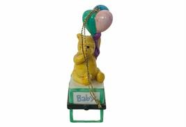 Walt Disney Christmas Ornament Winnie Pooh Figurine trinket box balloons... - $23.17