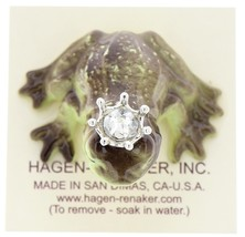 Hagen-Renaker Miniature Frog Prince Kissing Birthstone 04 April Diamond image 5
