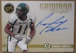 2009 Press Pass Se Ramses Barden Gold Auto Ny Giants - $2.99