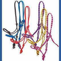 Rope Halter! Burgundy - Horse Size image 2