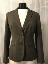 Banana Republic Women's Blazer Luxurious Brown 2 Button Lined Stretch Si... - $47.51
