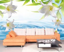 3D Reines Wasser, Lilie 2766 Fototapeten Wandbild Fototapete BildTapete Familie - $52.21+