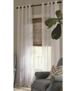 Allen + Roth Palma ll White Polyester Grommet Semi-Sheer Single Panel 52... - $17.00