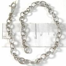 Armband aus Weißgold 750 18K mit Kreise Mattiert, Rolo, Länge 19 CM - $704.35