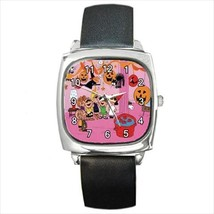 SNOOPY HALLOWEEN PARTY SILVER-TONE SQUARE WATCH - $25.99