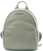 Michael Kors Abbey Quilted Medium Backpack Bag Ash Grey Leather RRP £310 - $377.78