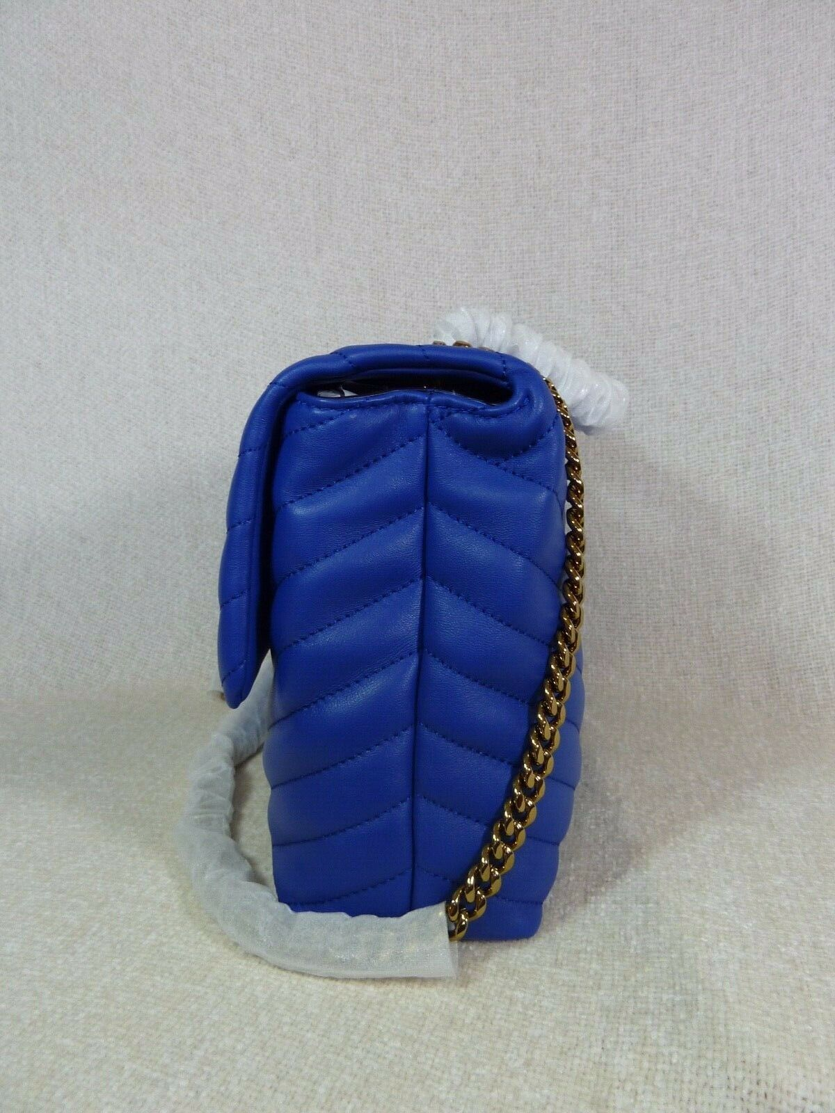 NWT Tory Burch Nautical Blue Kira Chevron Convertible Shoulder Bag image 5