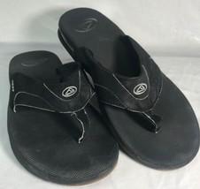 Reef Mens US13 Black Fanning Low Bottle Opener Surfing Sandal Flipflops - $39.83 CAD