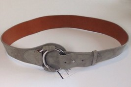 Ralph Lauren Womens Ladies Suede Grey Belt Size Medium - $219.19
