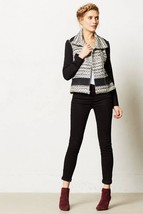 NWT ANTHROPOLOGIE TEXTURED MOTO JACKET by ELEVENSES 8, 10 - $99.99