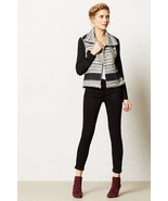 NWT ANTHROPOLOGIE TEXTURED MOTO JACKET by ELEVENSES 8, 10 - $94.99