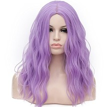 OneUstar Women's 18 inch Long Wavy Curly Wig Cosplay Party Wig (Light Pu... - $36.82