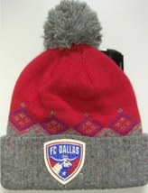 Adidas MLS Soccer Club F.C. DALLAS RED GRAY Soccer Beanie  - £15.43 GBP