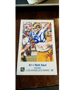 1980 LOS ANGELES RAMS SIGNED POLICE CARD RICH SAUL MICHIGAN STATE SPARTANS  - $19.99