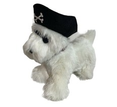 "GYMBOREE White Plush Dog Scottie Pirate Stuffed Animal 10"" - $13.99"