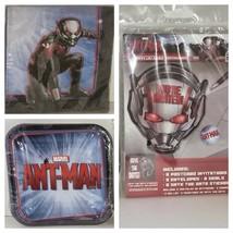 Marvel Ant-Man Birthday Party Plates Invitations Napkins Build You Own Set - $6.29