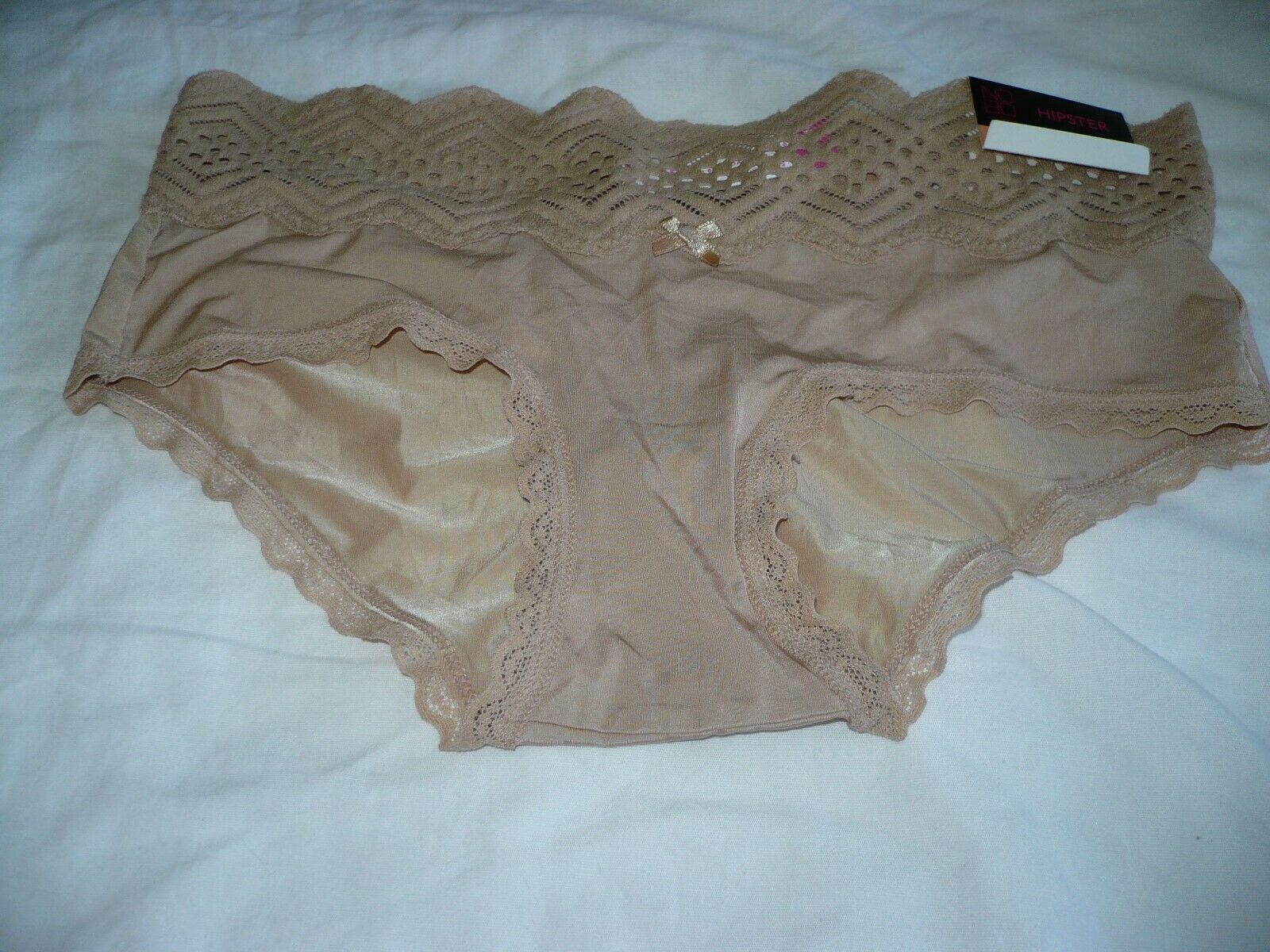 Primary image for No Boundaries Women's Micro & Lace Hipsters Size 3XL (10)  Sheer Taupe