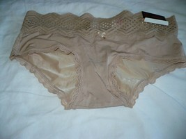 No Boundaries Women's Micro & Lace Hipsters Size 3XL (10)  Sheer Taupe - $9.89