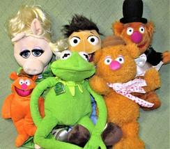 MUPPETS Plush Lot Jim Henson Miss Piggy Anniversary Talking KERMIT Fozzi... - $46.75