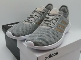 Adidas Women's Cloudfoam CF QTFLEX DA9835 Gray Athletic Running Shoes US... - $79.99