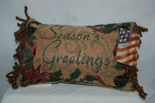 Manual Woodworkers Weavers Seasons Greetings Small Christmas Pillow