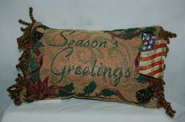 Manual Woodworkers Weavers Seasons Greetings Small Christmas Pillow image 1