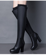woman Beibmkos Tommy Hilfiger over-the-knee Boot, size 5-8.5, black - $138.80