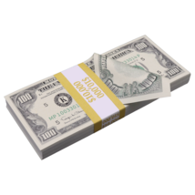 $10,000 1990 Style $100 Full Print Bills Prop Money Stack - $13.99