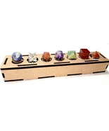 Seven Chakra Sacred Geometry 7 Piece with Merkaba Star Platonic Setwith ... - $23.00
