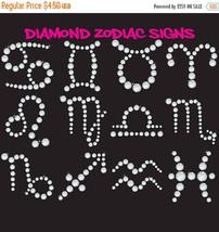 Diamond zodiac signs clipart, horoscope clipart, astrology clipart, astr... - $4.05