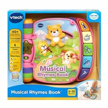 VTech Musical Rhymes Book, 40+ songs, melodies, sounds and phrases, Pink New! - $49.49
