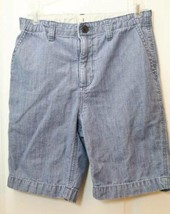 Boys Gap Kids Blue Shorts 10 Husky Adjustable Waist 100% Cotton Zipper Fly - $9.85