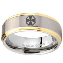 Resident Evil 8mm Gold Step Edges Tungsten Carbide Ring - $43.99
