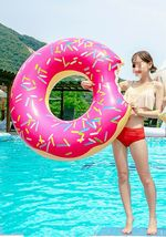 Swim About Large Donut Swim Ring Tube Pool Inflatable Floats for Adults (Pink) image 3
