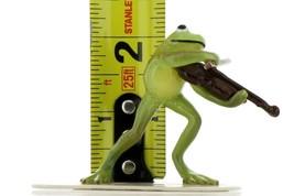 Hagen Renaker Miniature Frog Froggy Mountain Breakdown Fiddle Ceramic Figurine image 2