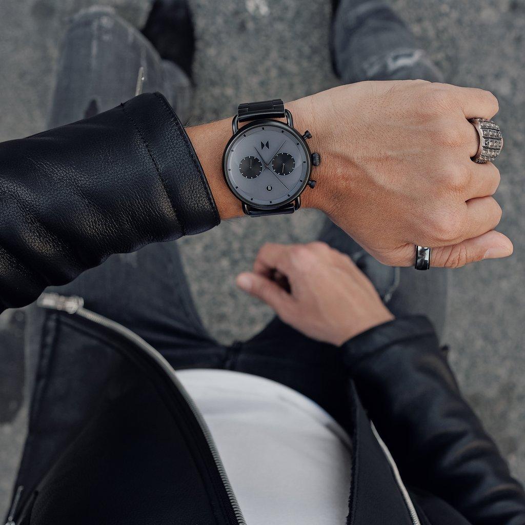 MVMT Men's Watches | Blacktop Collection | Starlight Black | 47mm