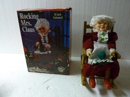 Vintage Gemmy  Animated Musical Rocking Mrs Claus Motion-ette with box - $24.18