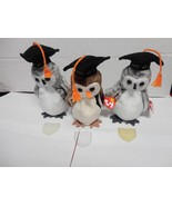 TY Beanie Baby Owls Wise Wiser and Wiser Class of 98 and Class of 99 Lot... - $9.89
