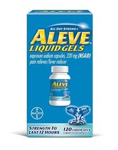 Aleve Liquid Gels with Naproxen Sodium. Pain Reliever/Fever Reducer - $36.26