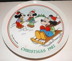Schmid Walt Disney Character Christmas 1982 Winter Games Collectors Plate - $22.20