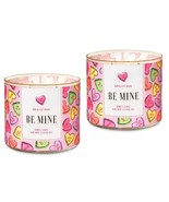 Bath & Body Works Be Mine Candy Hearts 3 Wick Scented Jar Candle 14.5 oz... - $69.99